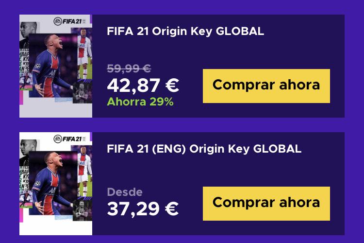 FIFA 21 PC ORIGIN ENG Y GLOBAL (Ingles)