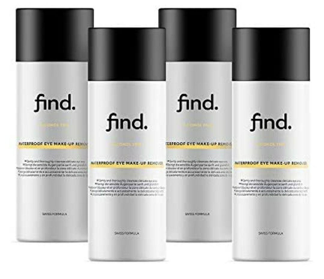 FIND - Desmaquillador de ojos resistente al agua (4x 150 ml)