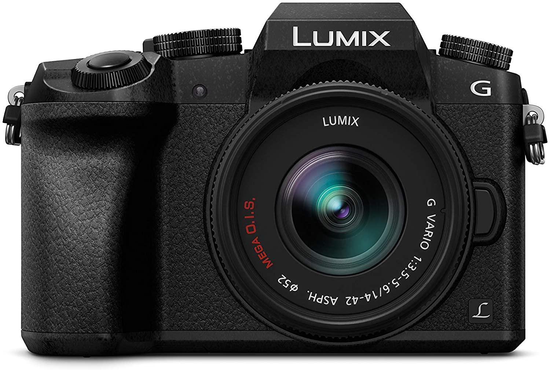 "Panasonic Lumix DMC-G7KEC - Cámara EVIL de16MP,Pantalla 3"", Vídeo 4K,Wi-Fi,RAW, Cuerpo Ergonómico, Kit Objetivo Lumix Vario 14-42mm/F3.5-5.6"