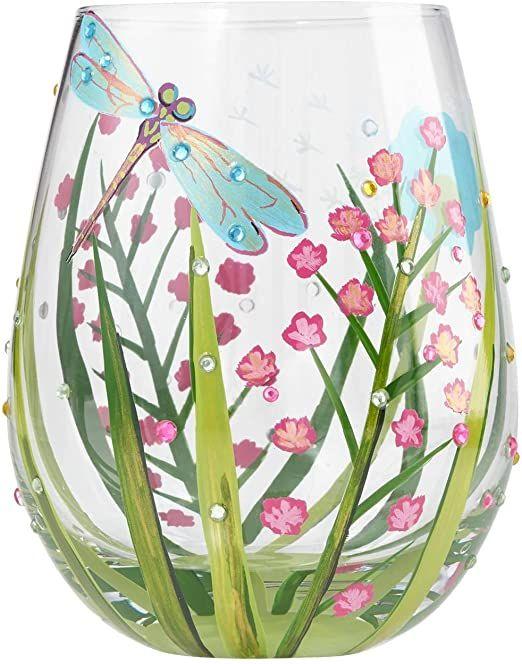 Lolita libélula - Vaso de cristal 10 x 10 x 12.5 cm