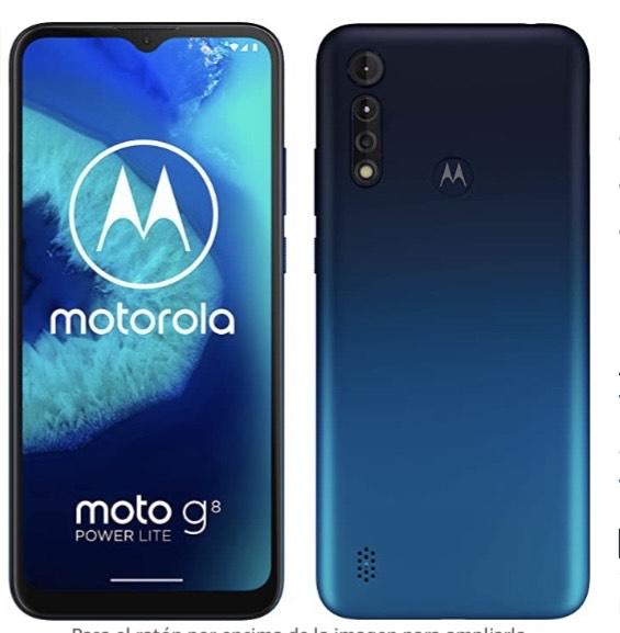 """Motorola Moto G8 Power Lite (Pantalla 6,5"""" HD+, procesador octa-core 2.3GHz, cámara triple de 16MP, batería de 5000 mAH"""