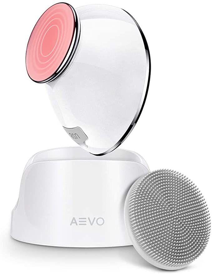 AEVO Cepillo Limpieza Facial, Limpieza 6 veces más Profunda,Masaje con Calor,Vibraciones Sónicas, Cabezal Silicona Desmontable