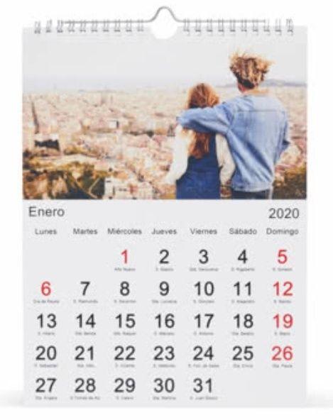Calendario A4 Gratis, Solo Gastos de envío