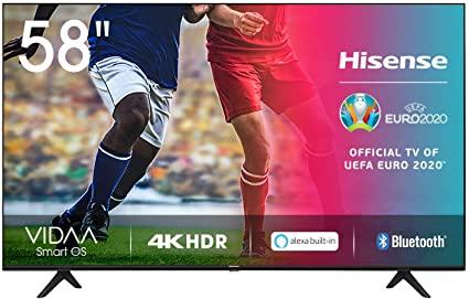 Hisense UHD TV 2020 58AE7000F - Smart TV Resolución 4K con Alexa integrada, Precision Colour, escalado UHD con IA, Ultra Dimming