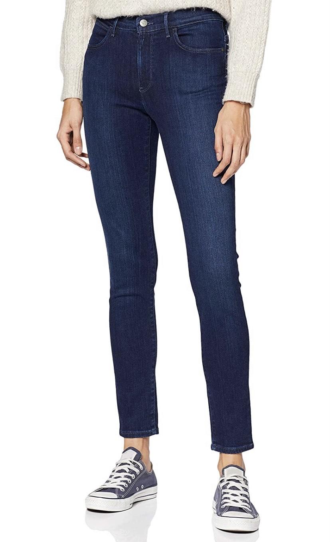 Talla 27W/32L vaqueros Wrangler High Rise Skinny Jeans