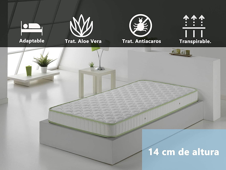 Colchon Espumación, 90 x 190 x 14 cm Duerme en colchón por menos de 52€