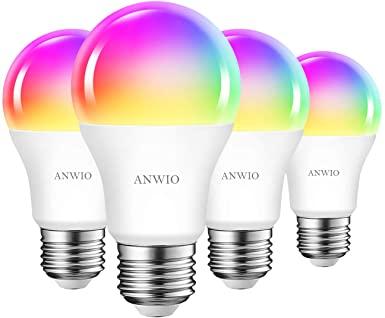 4x Bombillas LED RGB compatible con Alexa 10W