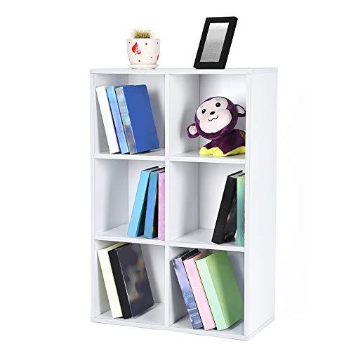 Librería estantería con 6 espacios