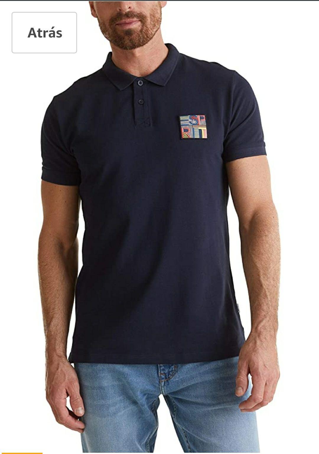 TALLA S - Esprit Camisa de Polo para Hombre