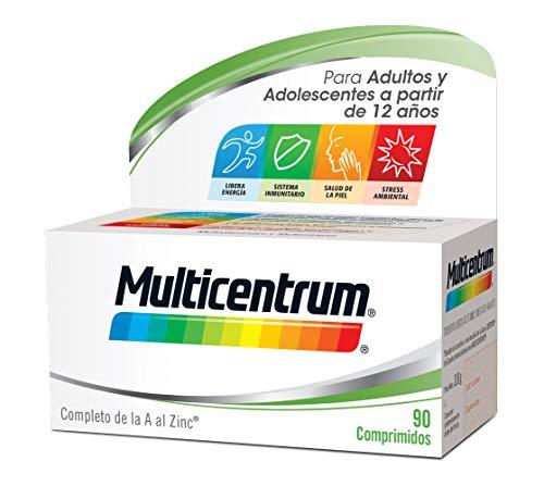 Multicentrum Adulto Complemento Alimenticio con 13 Vitaminas y 11 Minerales, 90 Comprimidos