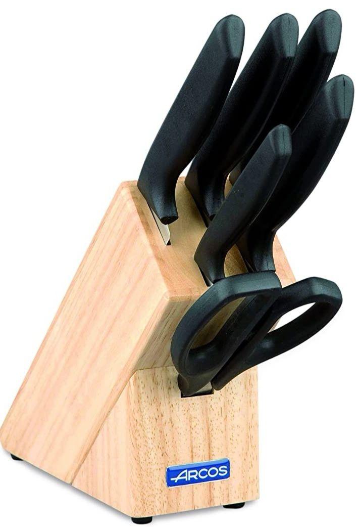 Arcos - Taco de 5 cuchillos y tijera (6 Piezas) Precio Mínimo!