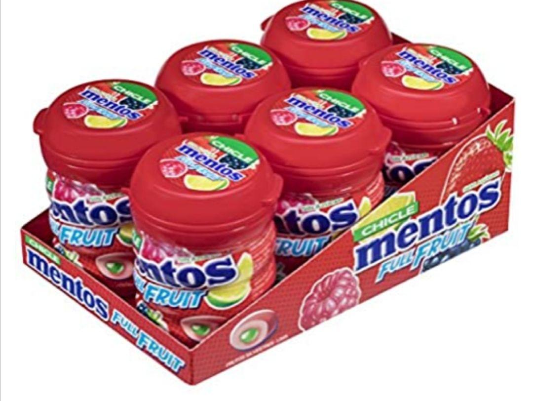 Mentos Chicle Frutas Silvestres, Sin Azúcar - 6 unidades (disponible tb en Menta)