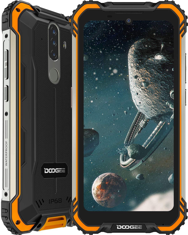 DOOGEE S58 Pro 4G Android 10, 6GB+64GB, 5180mAh, IP68/IP69K Teléfono Móvil Libre Antigolpes, NFC/GPS,