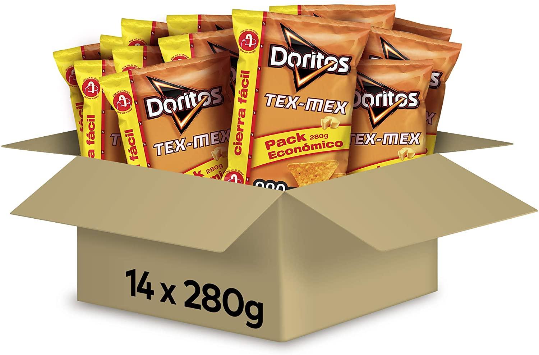 14 bolsas de 280g de Doritos Tex-Mex por sólo 16,8€