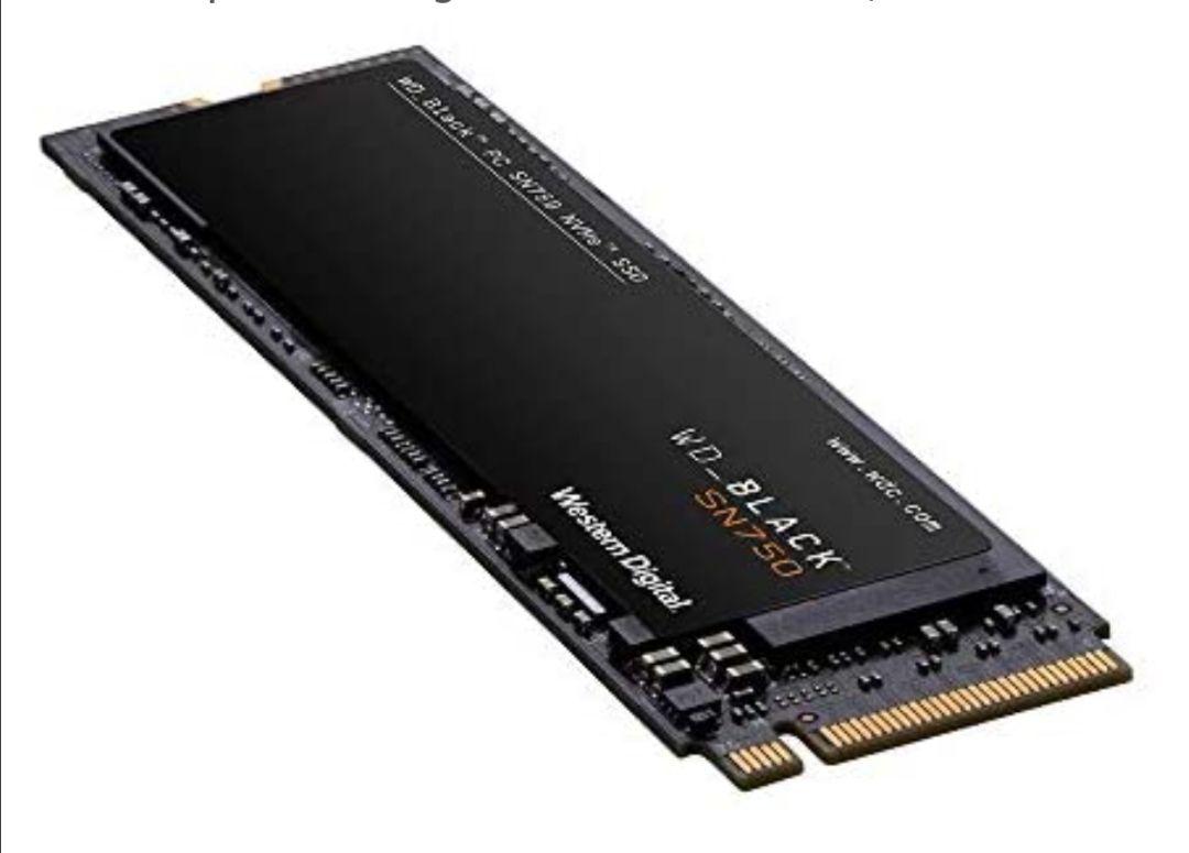 WD Black SN750 - SSD Interno NVMe con disipador térmico para Gaming de Alto Rendimiento, 1 TB