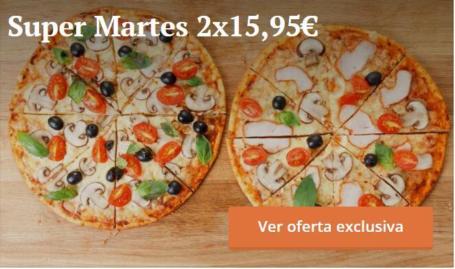 Super Martes: 2 pizzas por casi 16€ -- Pizzeria Savastano