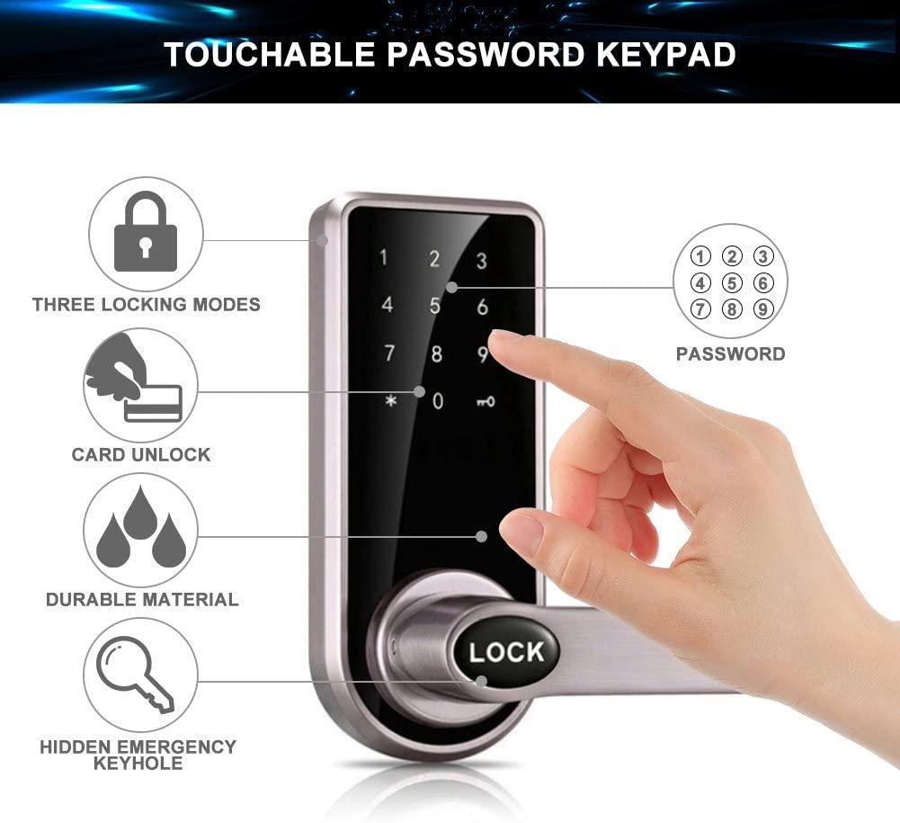 Cerradura Inteligente sin llave con triple sistema de apertura