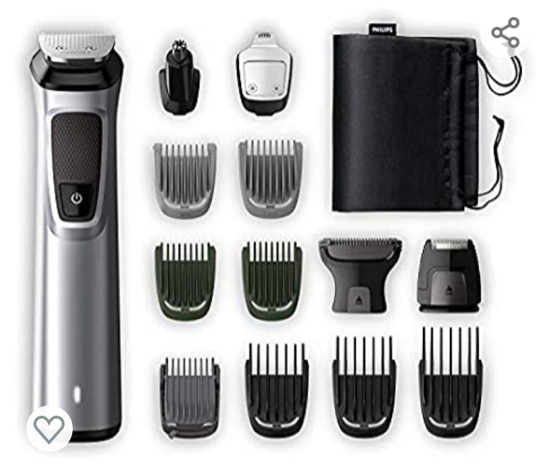 Philips Barbero MG7720/15 Recortador de barba y pelo, óptima precisión, 14 en 1 tecnología