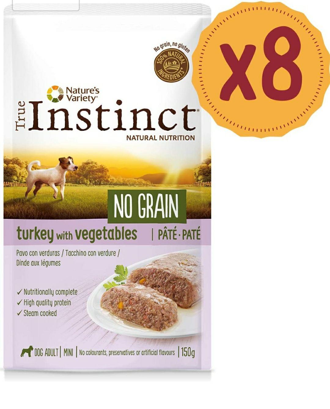 True Instinct No Grain Mini Paté de Pavo para Perros 150 gr - Pack de 8