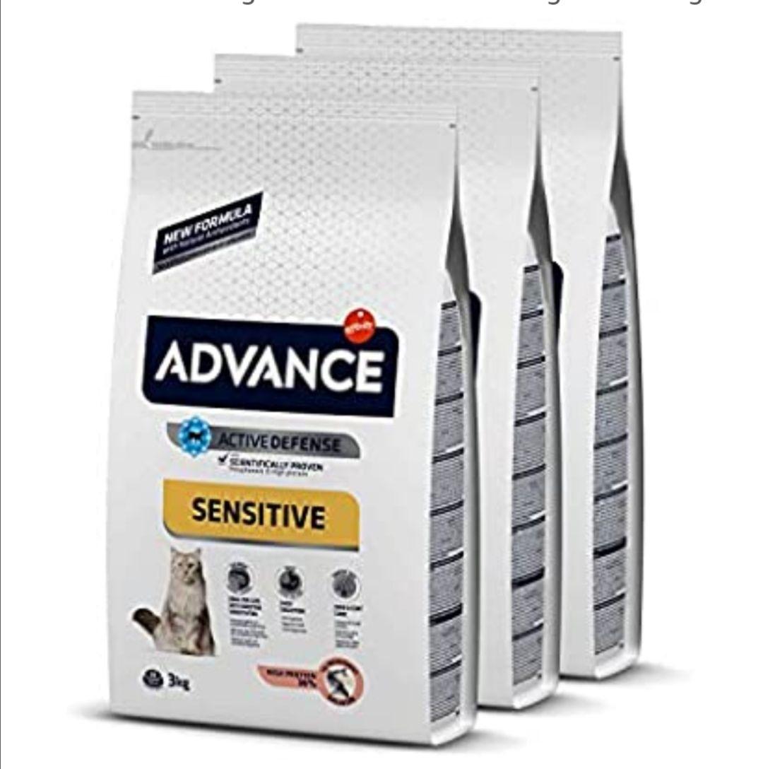 Advance Sensitive - Pienso para Gatos con Sensibilidades Digestivas - Pack De 3 x 3kg