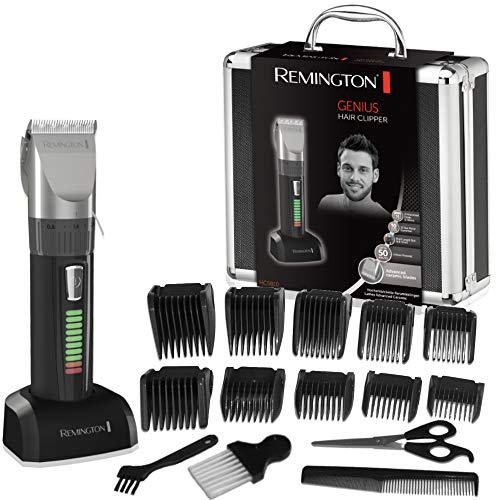Máquina de cortar pelo Remington HC5810 Genius + Cuchillas de Cerámica + 10 Peines