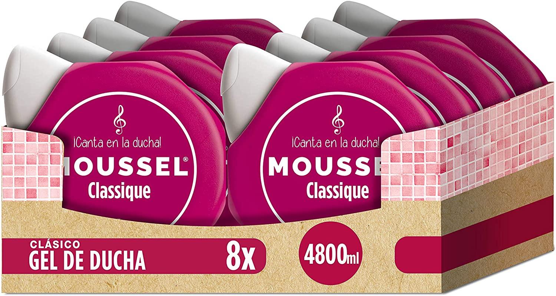 Moussel Gel Líquido Paquete de 8 x 600 ml - Total: 4800 ml y Jabón de Manos 6u sólo 7,65€