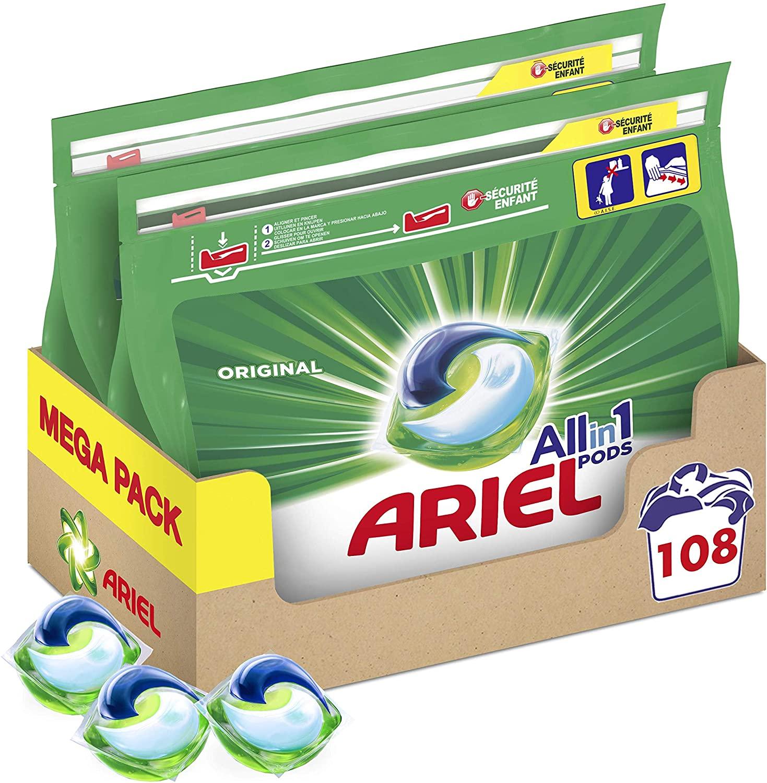 Ariel pods (detergente lavadora) 108 Lavados