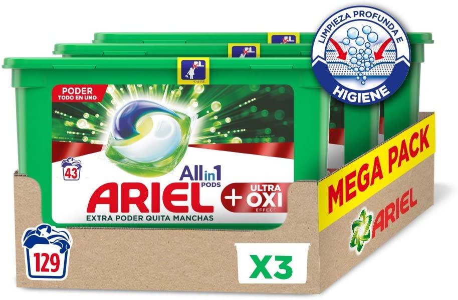 Ariel pods (detergente lavadora) 129 Lavados