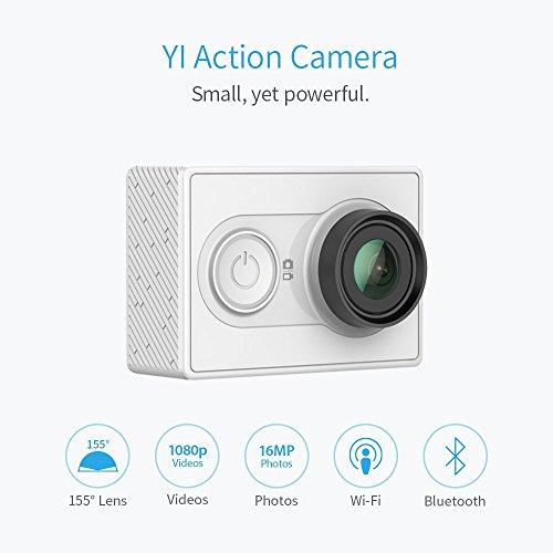 Yi Action - Videocámara deportiva Full HD 1080p, blanco