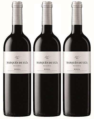 Vino Tinto Marqués de Ulia Reserva (Rioja) - 3 botellas de 75 cl