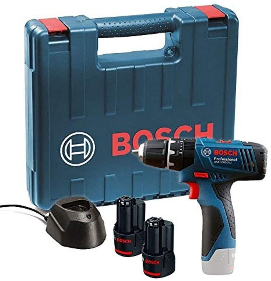 Bosch taladro 12V + 2 baterías + maletín solo 72€