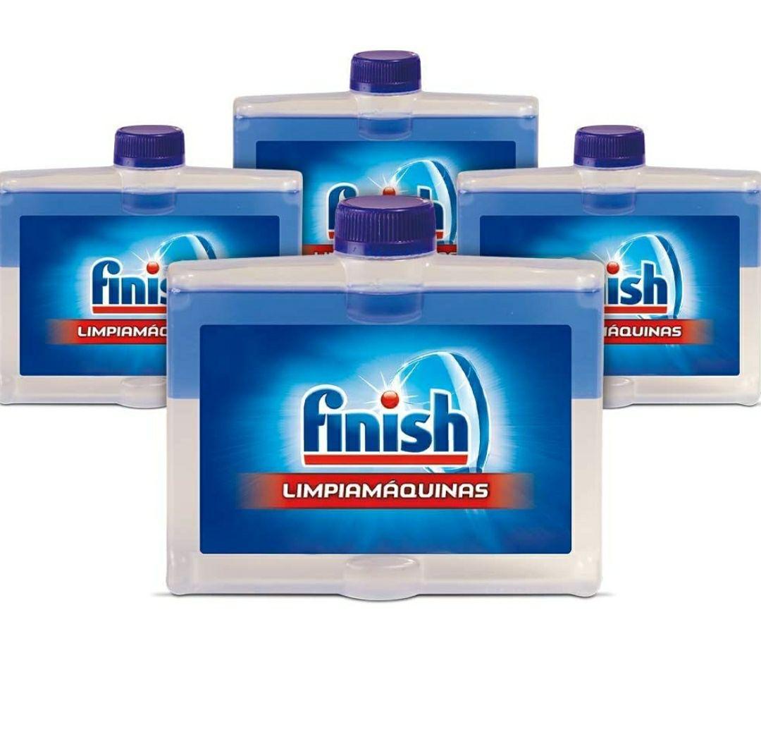Finish Limipiamáquinas - Líquido para Lavavajillas, 4 Unidades