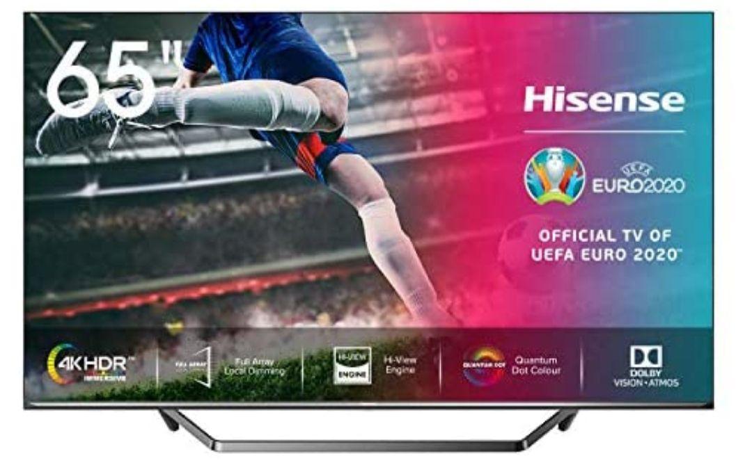 "Hisense ULED- Smart TV 65"" Resolución 4K,Full-Array, Quantum Dot, FALD, Dolby Vision, Dolby Atmos, Alexa *Mínimo histórico*"