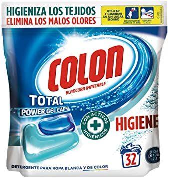 Colon Detergente de Ropa para Lavadora en Cápsulas Higiene - 32 Dosis (Compra recurrente)