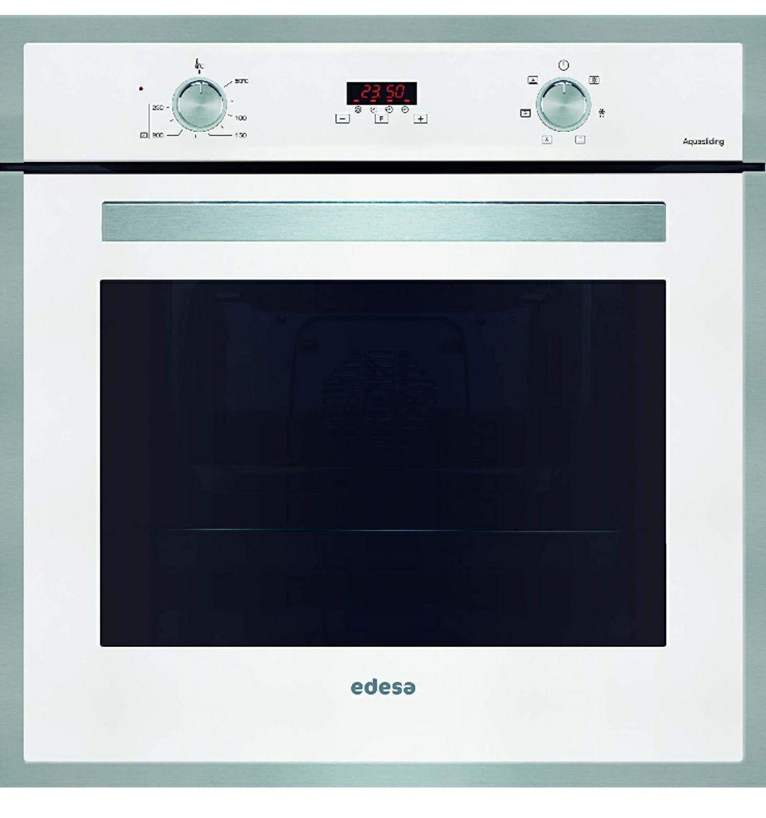 EDESA multifunción Plus.Modelo: EOE-7040 WH. Horno de 70 L,6 programas de cocinado.Eficiencia energética: A. Cristal:Blanco, 2200W