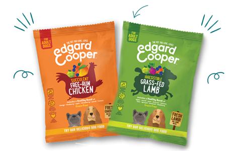 Comida natural para perros felices, muestra gratuita