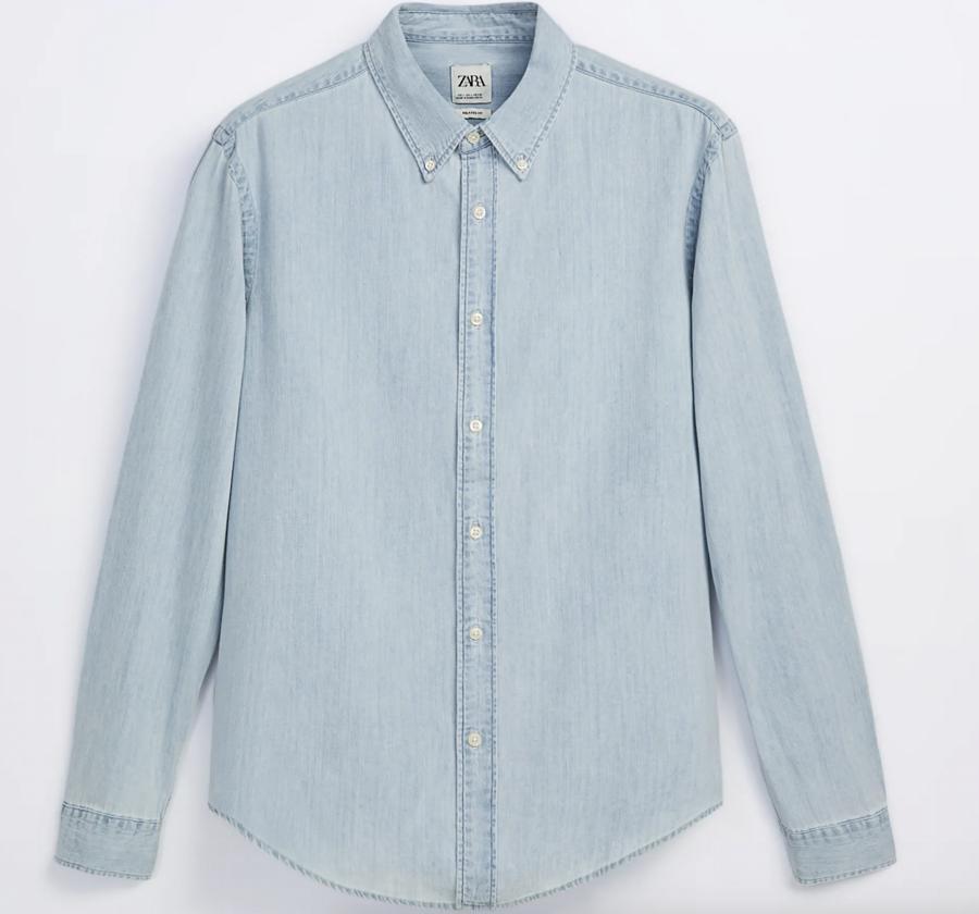 Camisa denim para hombre Zara
