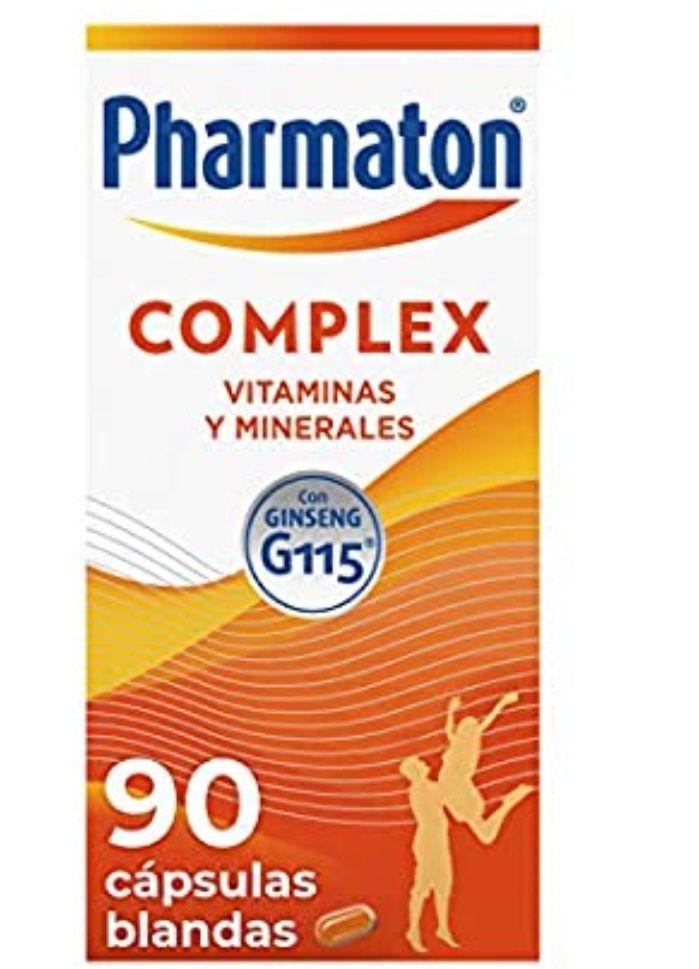 90 cápsulas(3meses) Pharmaton complex Multivitamínico con ginseng, Ayuda a recuperar la energía