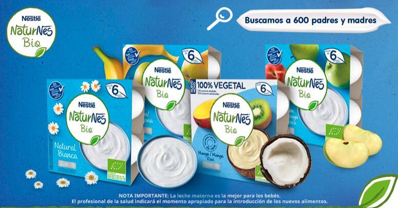Se buscan 600 familias que quieran descubrir NATURNES BIO de Nestlé