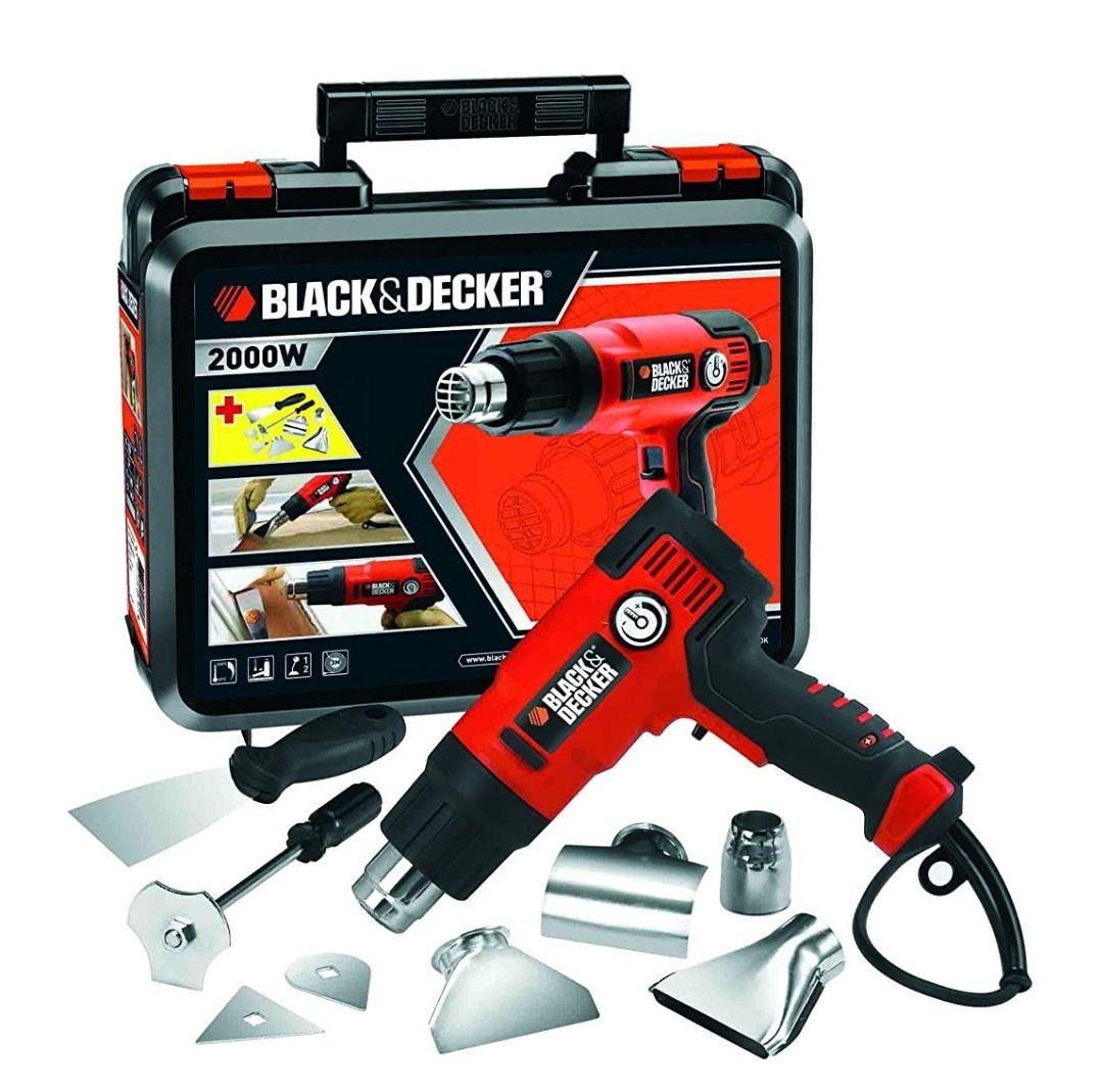 BLACK+DECKER KX2200K-QS - Decapador 2.000W, hasta 645˚C, 230V, incluye 8 accesorios y maletín