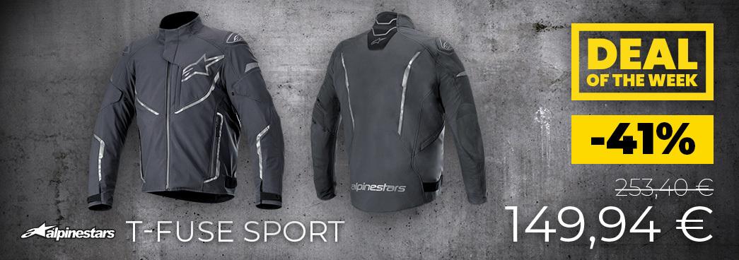 Alpinestars T-Fuse Sport chaqueta textil impermeable motocicleta
