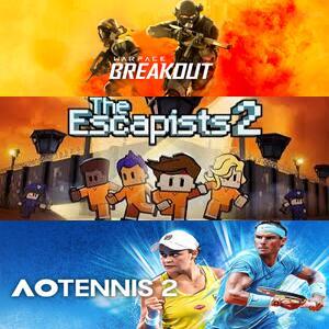 Juega gratis AO Tennis 2, The Escapists 2 y Warface: Breakout @XBOX