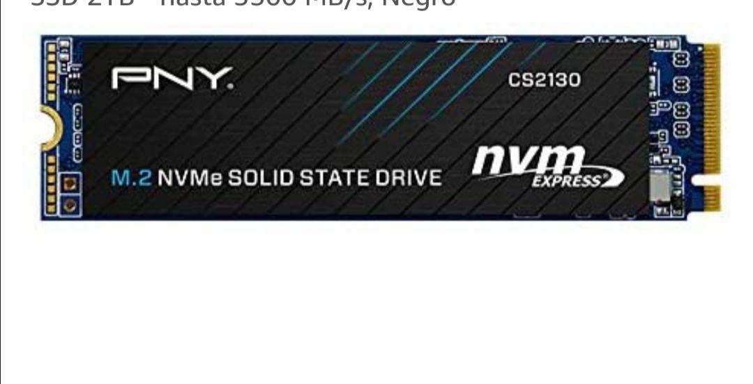 PNY CS2130 M.2 NVMe Unidad de Estado Sólido Interna SSD 2TB - hasta 3500 MB/s,