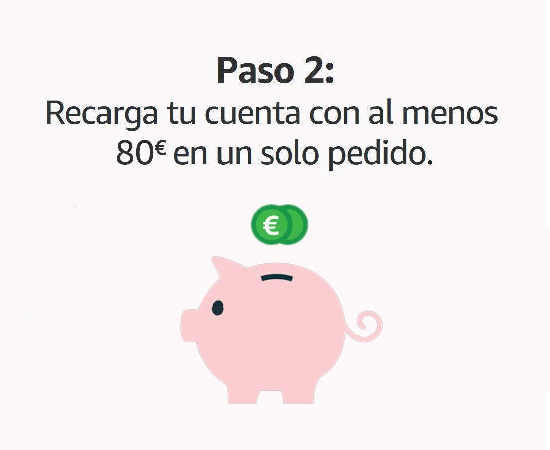 Llévate 6€ al recargar tu cuenta con 80€