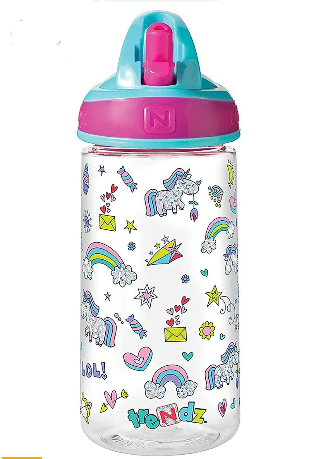 Nuby Botella de agua   Flip It Unicorn   540 ml   18 meses más
