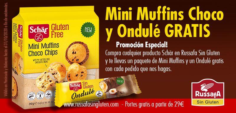 [Sin Gluten] Mini Muffins & Ondulé gratis al comprar Schär