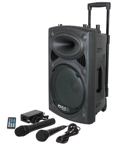Ibiza - Sistema de sonido portátil y autónomo, 200 W, color negro
