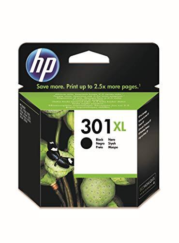 HP 301XL CH563EE, Negro, Cartucho de Tinta de Alta Capacidad Original