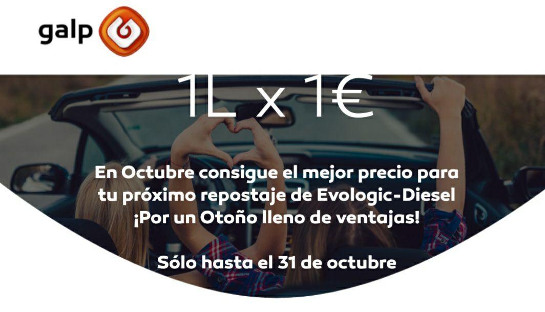 Diesel premium 1€/litro con galp