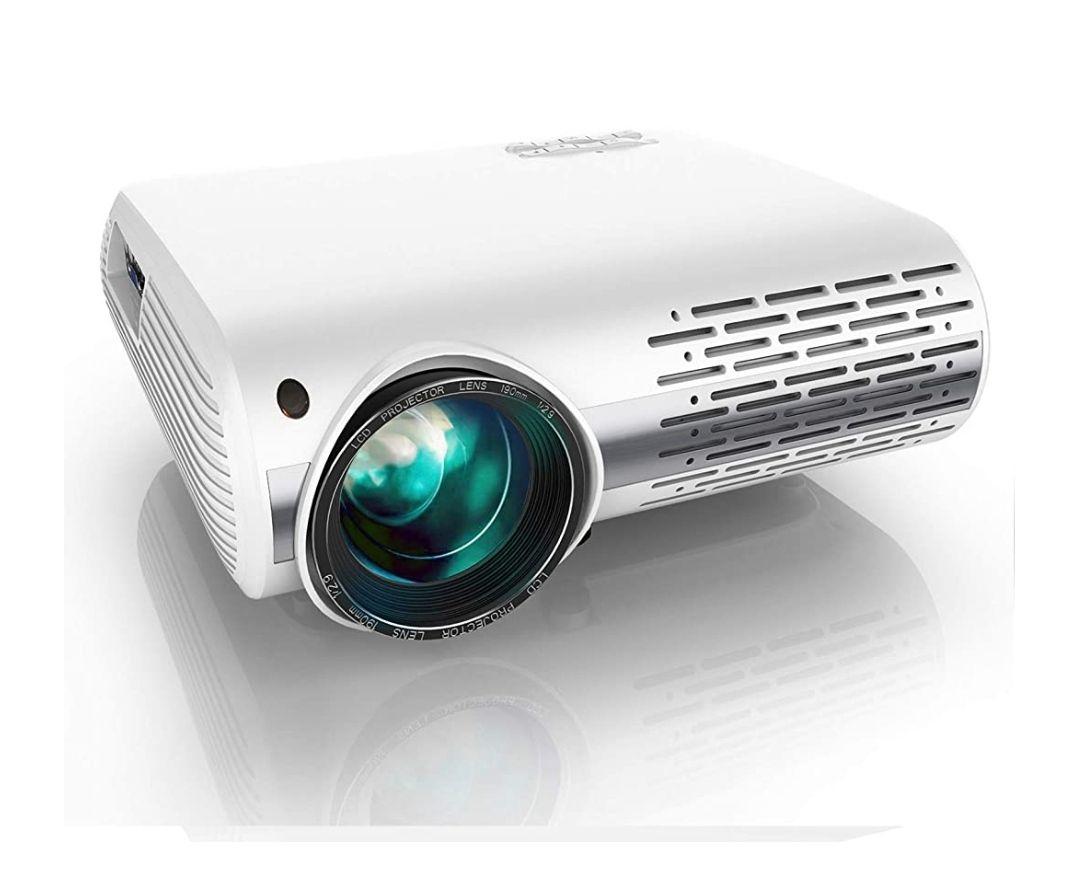 Proyector, YABER 7000 Lúmenes Proyector Full HD 1920x1080P Proyector Cine en Casa Soporta 4K y Sonido HiFi